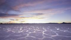 Bonneville Salt Flats Sunset Arkistovideo