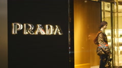 Prada boutique on Bloor Street, Toronto, Canada. Stock Footage