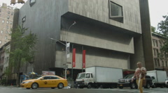 Museum in New York City, Upper East Side Manhattan, Met Breuer, Brutalism Stock Footage