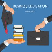 Helping Hand. Business Education Concept. Trends and innovation Piirros