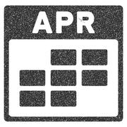 April Calendar Grid Grainy Texture Icon Stock Illustration
