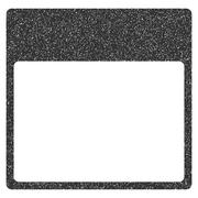 Calendar Page Template Grainy Texture Icon Stock Illustration