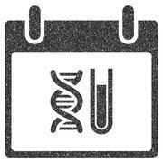 DNA Analysis Calendar Day Grainy Texture Icon Stock Illustration