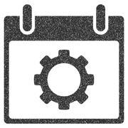 Gear Options Calendar Day Grainy Texture Icon Stock Illustration