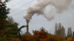 Environmental pollution factory. The smoke from the chimney Stock Footage