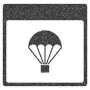 Parachute Calendar Page Grainy Texture Icon Piirros