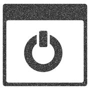 Switch On Calendar Page Grainy Texture Icon Stock Illustration