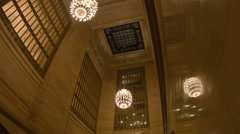 Grand Central Terminal, Globe Chandeliers, Manhattan New York City Stock Footage