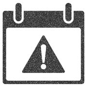 Warning Calendar Day Grainy Texture Icon Stock Illustration