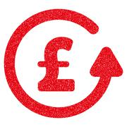 Chargeback Pound Grainy Texture Icon Stock Illustration