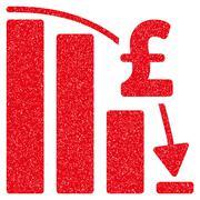 Pound Financial Epic Fail Grainy Texture Icon Stock Illustration