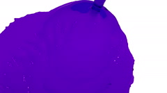 Purple liquid flow falls fills screen slow motion. clear liquid Stock Footage