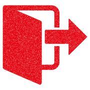 Exit Door Grainy Texture Icon Stock Illustration
