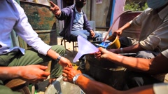 Petrol selling in Thamel, Kathmandu district. Nepal Stock Footage