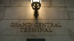 Grand Central Terminal Sign, Exterior Lettering Manhattan New York City Stock Footage