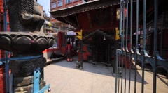 One of many temples in Thamel district, Kathmandu, Nepal Stock Footage
