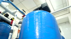 Water filters at the plant. Stock Footage