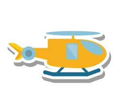 Helicopter vehicle flying isolated icon Piirros
