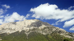 View of Tahtali Dag near the Cirali village, District of Kemer, Antalya Province Stock Footage