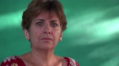 7 Real People Portrait Sad Depressed Woman Looking At Camera Stock Footage