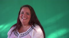 8 Real People Portrait Happy Overweight Hispanic Woman Laughing Stock Footage