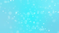 Abstract blue holiday background with animated bokeh lights Stock Footage