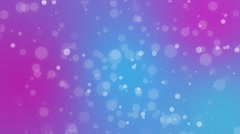 Abstract pink purple blue holiday background with animated bokeh lights Stock Footage