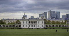 Time lapse panning view of  Greenwich, London Stock Footage