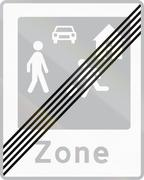 Road sign used in Denmark - End of residential area Stock Illustration