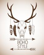 Boho style bohemic and ornament design Stock Illustration