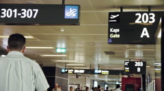 Passengers and Gate Signals in Istambul Sabiha Gokcen International Airport Stock Footage