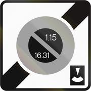 Road sign used in France - End of no parking zone with parking disc and semim Stock Illustration