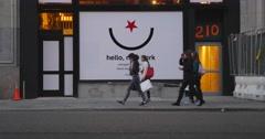 Hello New York Sign in Manhattan 4K Stock Footage