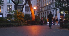 People Walk Through Madison Square Park in New York City 4K Stock Footage