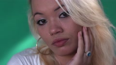 13 People Emotions Sad Worried Hispanic Girl Depressed Latina Woman Stock Footage