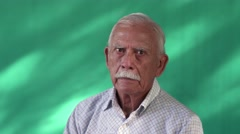 14 Real People Portrait Sad Elderly Hispanic Man White Grandfather Stock Footage
