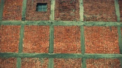 Brick wall background. 4K resolution retro look. Stock Footage