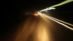Driving on road at night, time lapse Arkistovideo