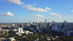 Downtown Austin, Texas Skyline Aerial Zoom Out Stock Footage