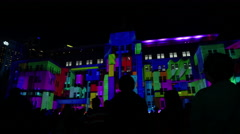 Museum of Contemporary Art Vivid Show 2015 Time Lapse 4k v2 Stock Footage