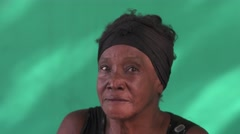 17 Real People Portrait Sad Elderly African American Woman Stock Footage