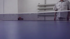 Playing ping pong Stock Footage