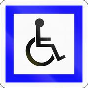 Road sign used in France - disabled people Stock Illustration