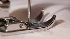 Needle on the sewing machine. Slow motion Stock Footage