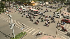 Timelapse view of crazy traffic in Saigon Stock Footage