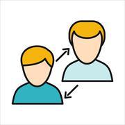 Human Interaction Icon Stock Illustration