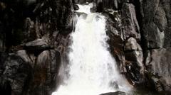 Waterfall Along Trail Yosemite National Park California Stock Footage