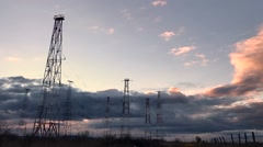 Radio Tower with sky background in summer Stock Footage