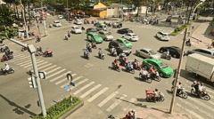 SAIGON, VIETNAM -  Timelapse view of crazy traffic in Saigon Stock Footage