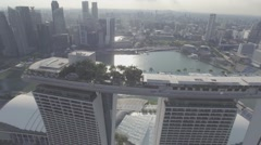 Marina Bay Sands Drone Aerial Shot CU Stock Footage